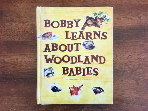 Bobby Learns About Woodland Babies by Marjorie Wackerbarth, Vintage 1968