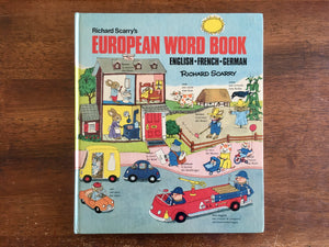 Richard Scarry's European Word Book (English, French, German), Vintage 1975, Hardcover