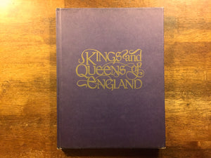 Kings and Queens of England by Alan Palmer, Vintage 1976, Hardcover Book, Illustrated