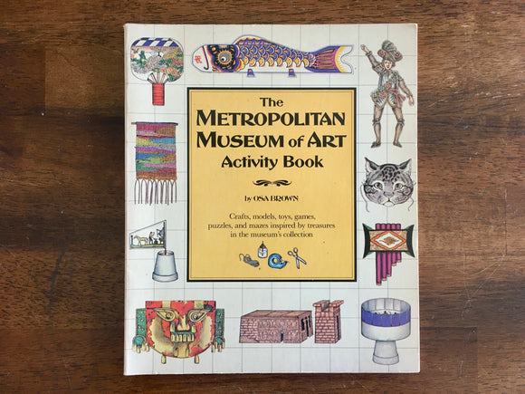 The Metropolitan Museum of Art Activity Book by Osa Brown, Vintage 1983, 1st Print