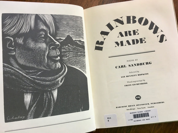 Rainbows Are Made, Poems by Carl Sandburg, Vintage 1982, Illustrated, HC