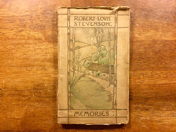 Memories, Robert Louis Stevenson, Photo Book with Commentary, Paper Board with Dust Jacket, Vintage
