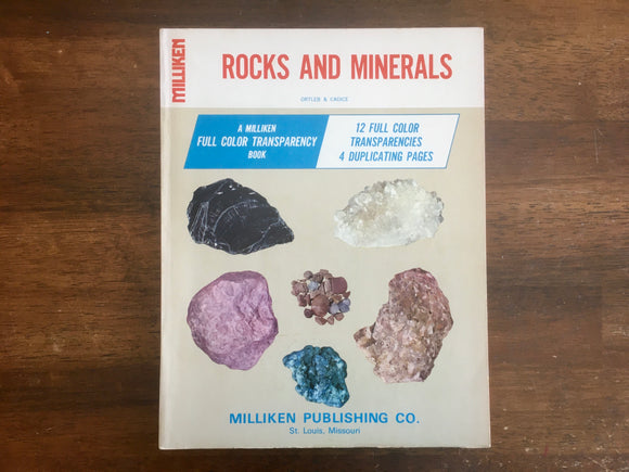 Rocks and Minerals: A Miliken Full Color Transparency Book, Vintage 1969