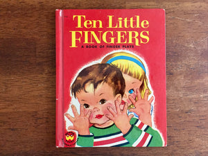 Ten Little Fingers: A Book of Finger Plays by Priscilla Pointer, Vintage 1954, Wonder Books, Hardcover, Illustrated