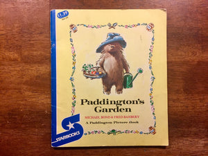 Paddington's Garden by Michael Bond, Illustrated by Fred Banbery, Vintage 1973
