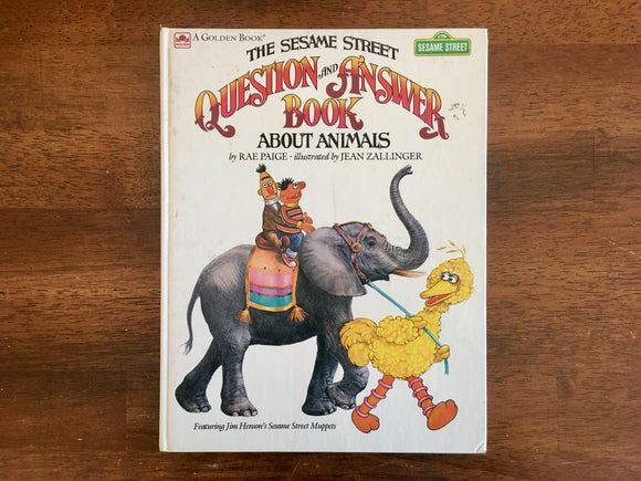 The Sesame Street Question and Answer Book About Animals, 1989, Golden Book