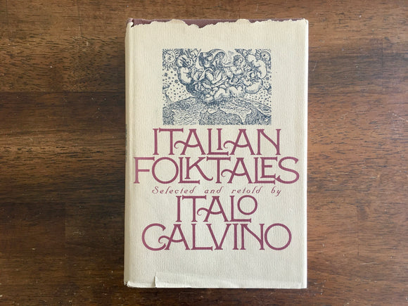 Italian Folktales, Selected and Retold by Italo Calvino, Vintage 1980, HC DJ