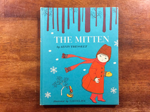 The Mitten by Alvin Tresselt, Illustrated by Yaroslava, Vintage 1964, Hardcover Book