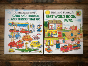Richard Scarry's Best Word Book Ever and Cars, Trucks and Things That Go, HC