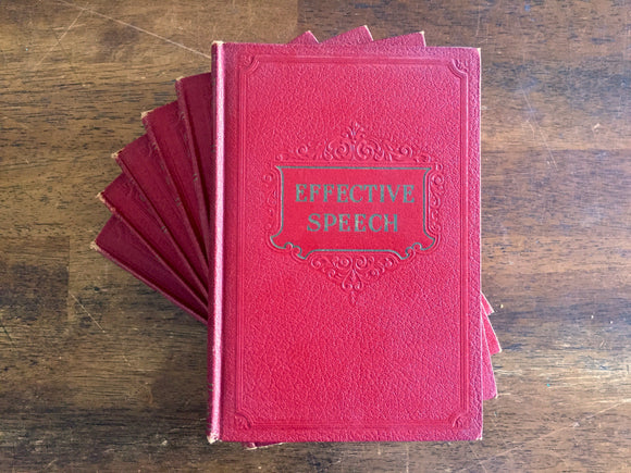 Effective Speech 6 Book Set, Complete Course, Vintage 1930s, Hardcover