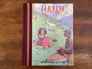 Heidi by Johanna Spyri, Illustrated by Jessie Wilcox Smith, Vintage 1986, Hardcover Book