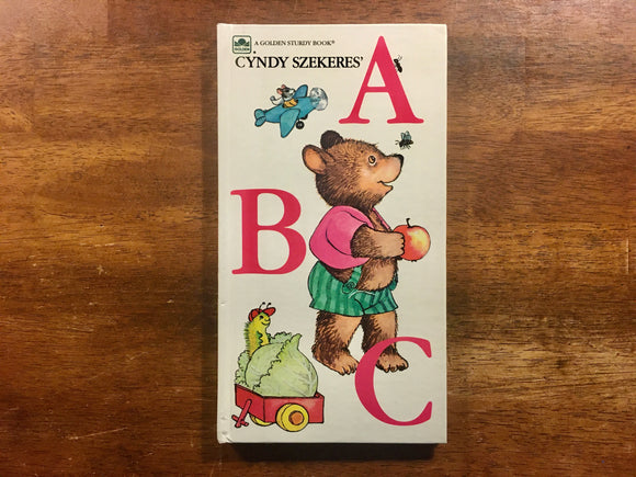 Cyndy Szekeres' ABC, A Golden Sturdy Book, Vintage 1983, Hardcover Board Book, Illustrated
