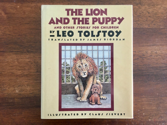 The Lion and the Puppy by Leo Tolstoy, Vintage 1988, 1st Edition