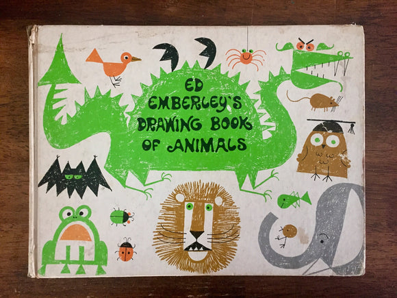 Ed Emberley's Drawing Book of Animals, Vintage 1970, Hardcover