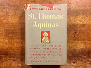 Introduction to St. Thomas Aquinas, Hardcover Book with Dust Jacket, Vintage 1948