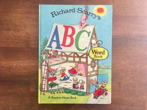 Richard Scarry's ABC Word Book, Vintage 1971, Hardcover, Illustrated