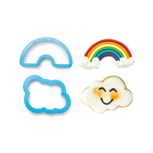 Rainbow and Cloud Cutter Set- Decora