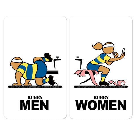 Sticker - WC Men/Women - Jaune/Bleu