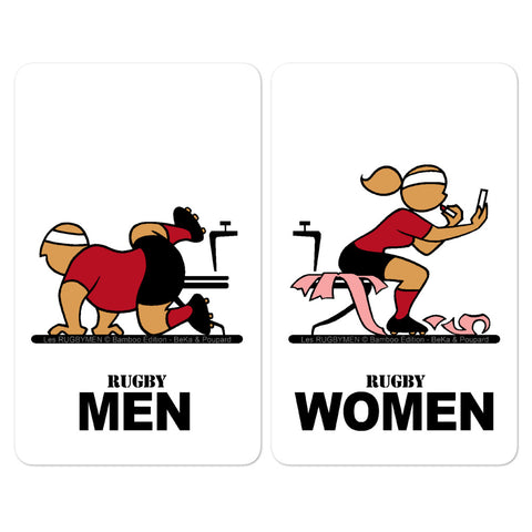 Sticker - WC Men/Women - Noir/Rouge