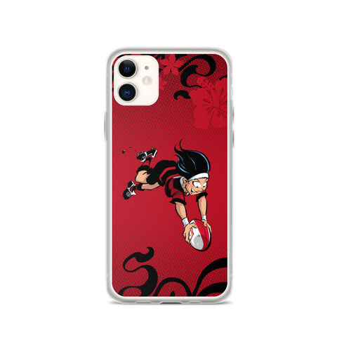 Coque iPhone - Babyliss - Noir/Rouge
