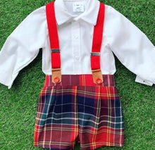 Load image into Gallery viewer, Boys Tartan short set