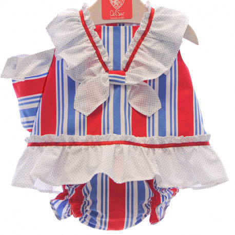 Red and blue frill