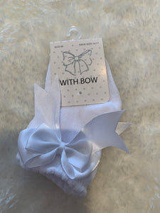 White Ankle bow socks