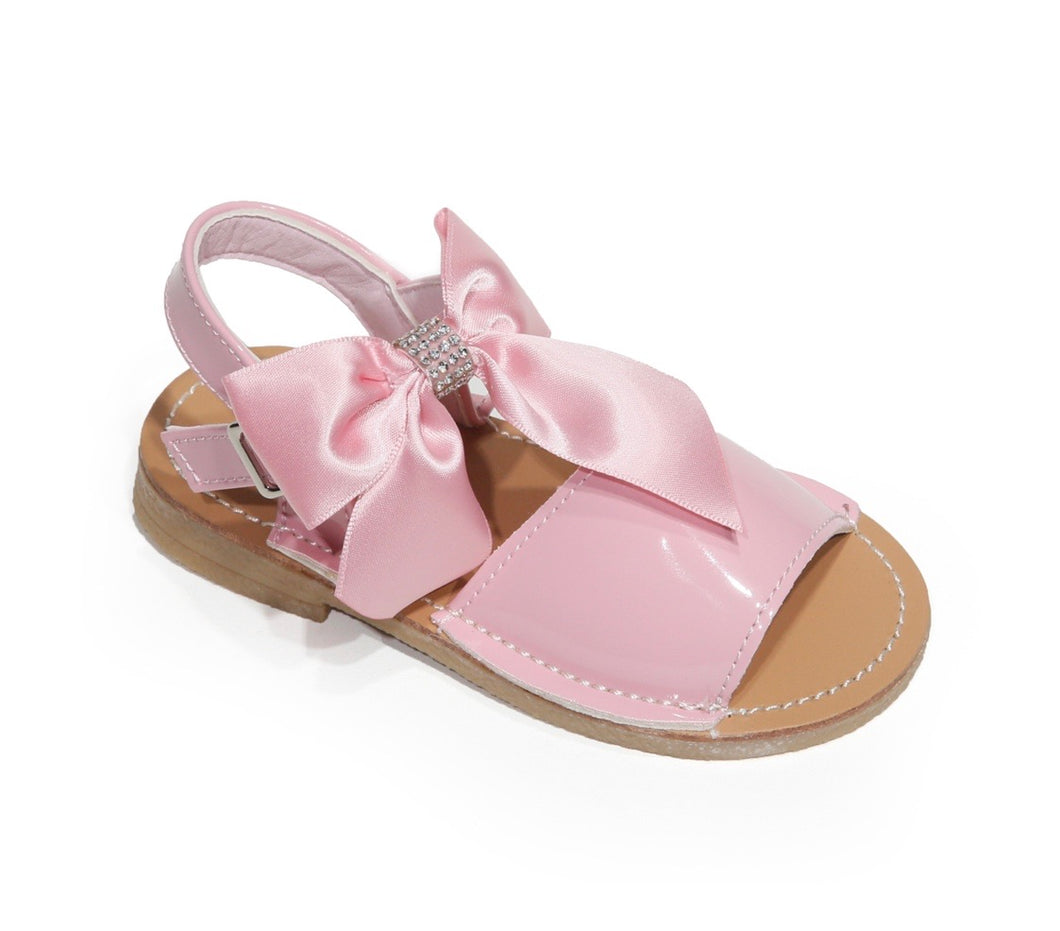 Girls bow pink sandals