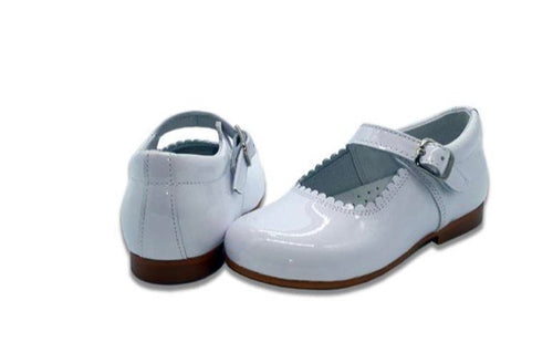 MARY JANES IN PATENT LEATHER WHITE COCOBOXI
