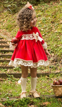 Load image into Gallery viewer, RED puffball dress