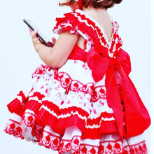 Load image into Gallery viewer, Sonata Red puffball dress