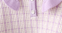 Load image into Gallery viewer, Girls lilac knit set