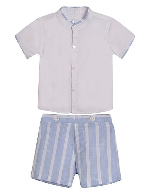 Younger boys blue short set