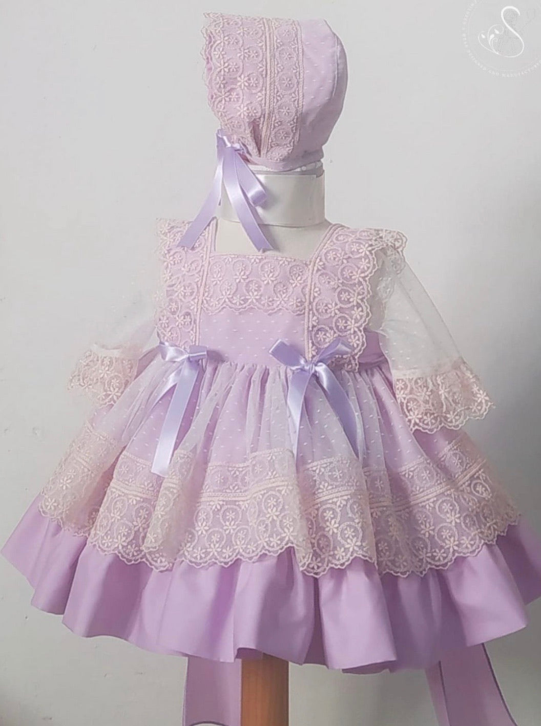Lavender puffball dress