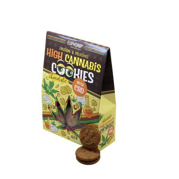 Euphoria High Cannabis Chocolate Cookies with CBD - Natural Euphoria