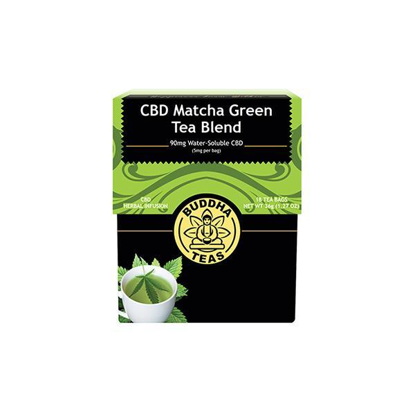 Buddha Teas CBD Matcha Green Tea Bags 5mg - Natural Euphoria
