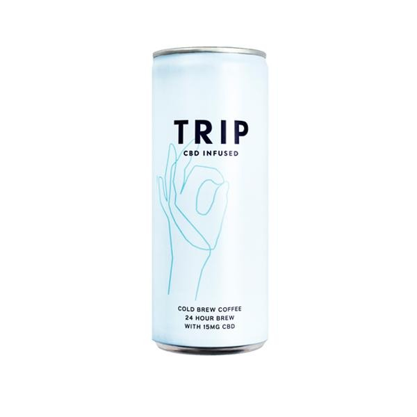 24 x TRIP 15mg CBD Infused Cold Brew Coffee Drink 250ml - Natural Euphoria