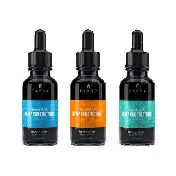 Favor CBD Hemp Tincture Oil 500mg CBD 30ml - Natural Euphoria