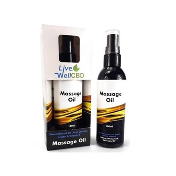 LVWell CBD 300mg 100ml Massage Oil - Natural Euphoria