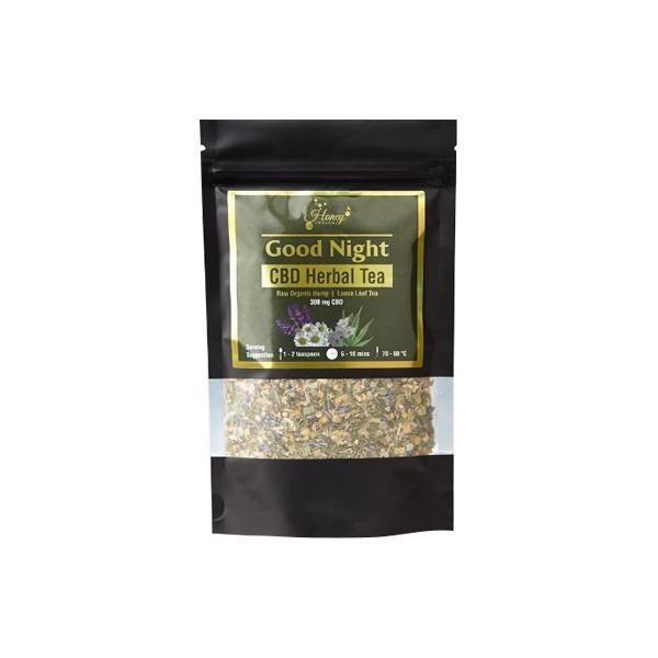 Honey Heaven 300mg CBD Loose Leaf Herbal Tea 50g - Good Night - Natural Euphoria