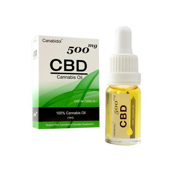 Canabidol 500mg CBD Cannabis Oil Drops 10ml - Natural Euphoria