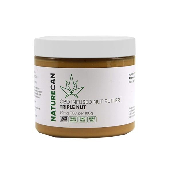 Naturecan 90mg CBD 180g Nut Butter Triple Nut - Natural Euphoria