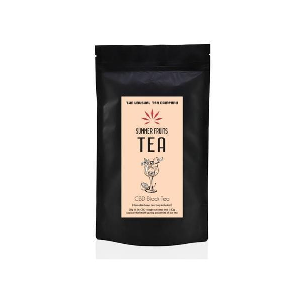 The Unusual Tea Company 3% CBD Hemp Tea - Summer Fruits 40g - Natural Euphoria
