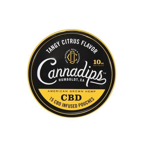 Cannadips 150mg CBD Snus Pouches - Tangy Citrus - Natural Euphoria