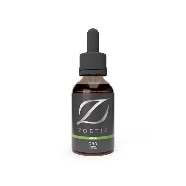 Zoetic 500mg CBD Oil 30ml -  Calming Natural - Natural Euphoria