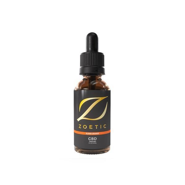 Zoetic 1000mg CBD Oil 30ml - Zesty Blood Orange - Natural Euphoria