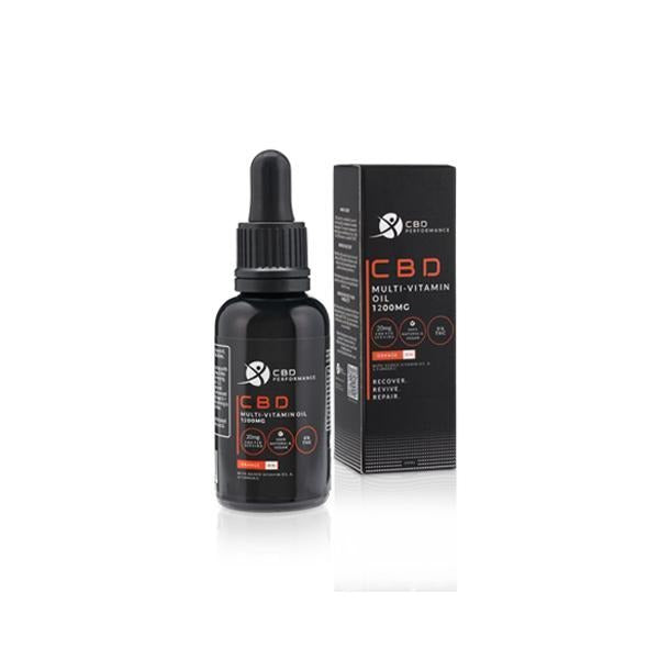 CBD Performance 1200mg CBD Multi-Vitamin Oil 30ml - Natural Euphoria