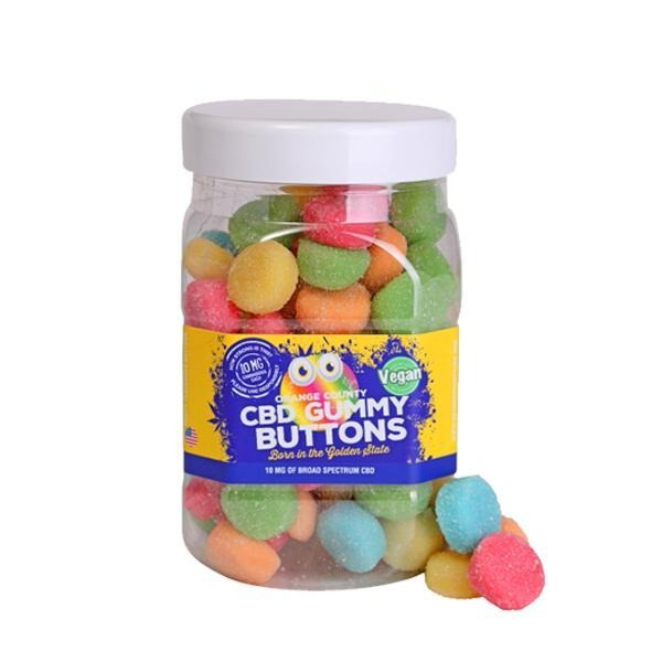 Orange County CBD 10mg Gummy Buttons - Large Pack - Natural Euphoria