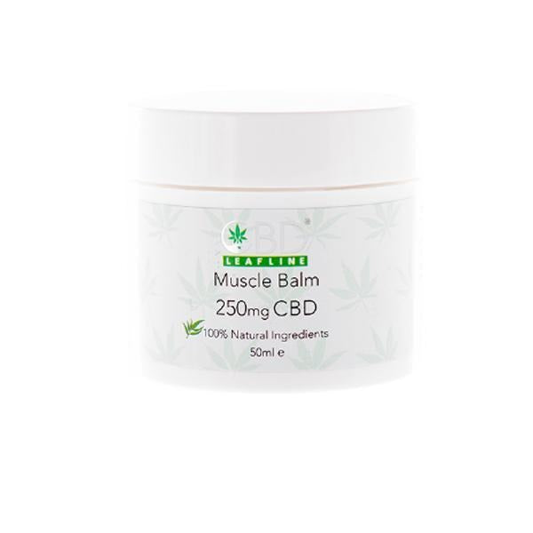 CBD Leafline 250mg CBD Muscle Balm 50ml - Natural Euphoria