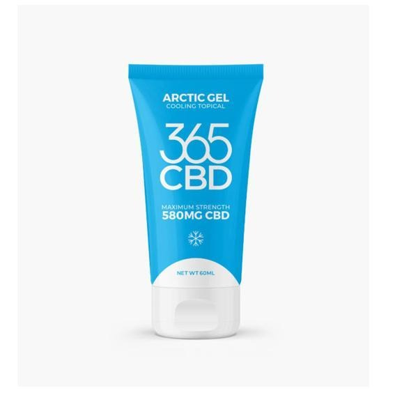 365 CBD Arctic Gel 580mg CBD Cooling Topical Balm 60ml